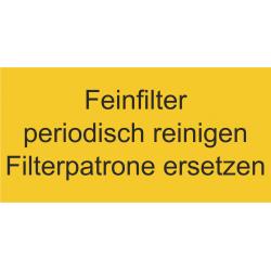 Gravur-Schild 100x50mm gelb 3-zeilig
