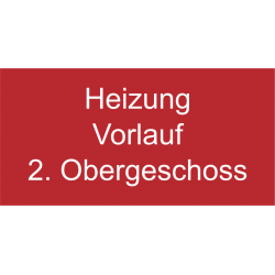 Folien-Schild Text graviert