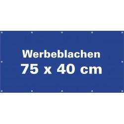 Werbeblache 75x40cm