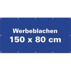 Werbeblache 150x80cm