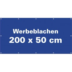 Werbeblache 200x50cm