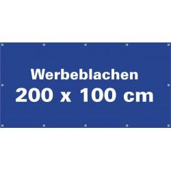 Werbeblache 200x100cm