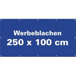Werbeblache 250x100cm