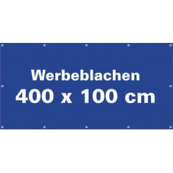 Werbeblache 400x100cm