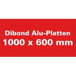 Dibond Aluminium-Verbundplatten weiss 1000x600mm
