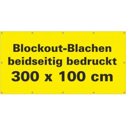 Blockout Werbebanner