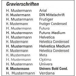 Namensgravur Namensschild TS