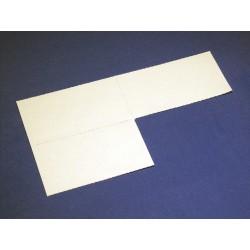 Papier-Einlage weiss Grösse 90x55mm  -  10 Blatt A4