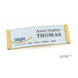 "Namensschild polar® 20 ""metal"" 68x22mm gold"