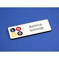 """""""digi-print"""" Namensschild Modell GS in weiss matt"""