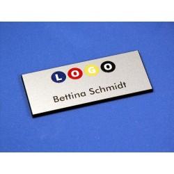"""digi-print"" Namensschild Modell GS Aluminium matt"