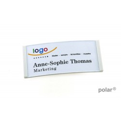 "Namensschild polar® 30 ""color"" 70x30mm weiss"
