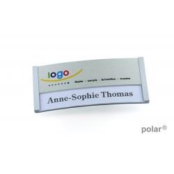 "Namensschild polar® 30 ""metal combi-print"" 70x30mm edelstahl matt"