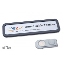 Namensschild OFFICE® 20 Farbe anthrazit mit Magnet standard