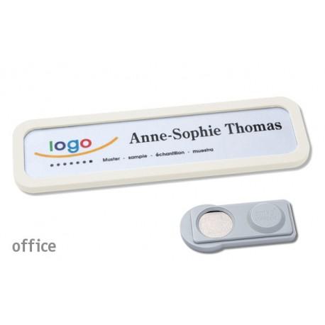 Namensschild OFFICE® 20 Farbe weiss mit Magnet standard