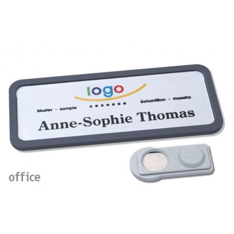 Namensschild OFFICE® 30 Farbe anthrazit mit Magnet standard