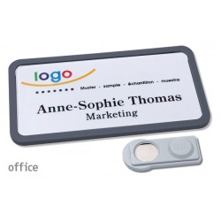 Namensschild OFFICE® 40 Farbe anthrazit mit Magnet standard