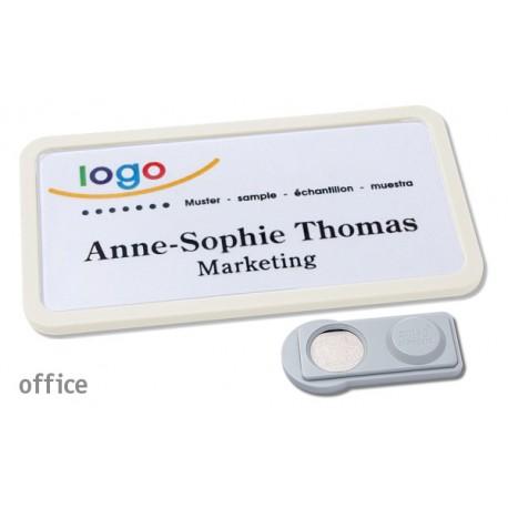 Namensschild OFFICE® 40 Farbe weiss mit Magnet standard
