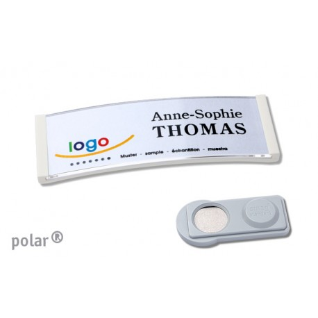 "Namensschild polar® 20 ""color"" 68x22mm weiss"