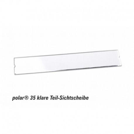 Teil-Sichtscheibe polar® 35 - 74x14mm Ersatzkomponente glasklar im 10er Pack
